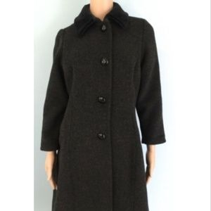 Christian Dior Womens Long Wool Blend Gray Coat  S